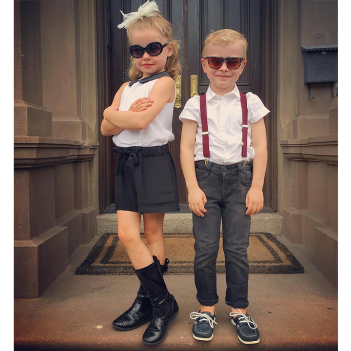 Neil Patrick Harris and David Burtka's twins Gideon and Harper ruled kindergarten with their flawless style. 