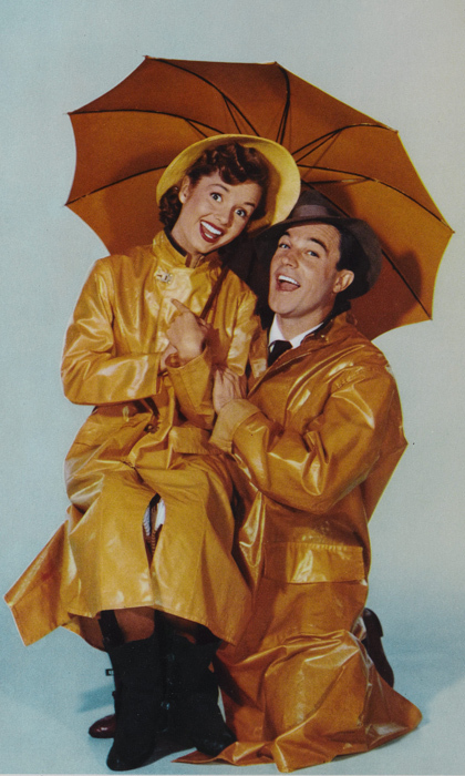 """Ladies and gentlemen, stop that girl … That's the girl whose voice you heard and loved tonight. She's the real star of the picture. Kathy Selden!"" declares Gene Kelly in the climax of 1952's <em>Singin' in the Rain</em>. Debbie was only 19 when she made the film that turned her into a star, and remarkably had no professional dance training before cameras started rolling.