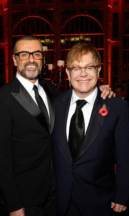 Elton John paid an emotional tribute to pal George Michael.