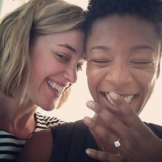 <h2>Samira Wiley and Lauren Morelli </h2>