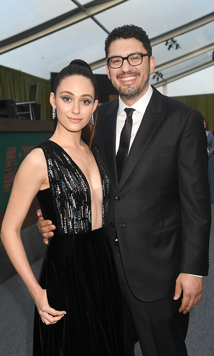 <h2>Emmy Rossum and Sam Esmail</h2>