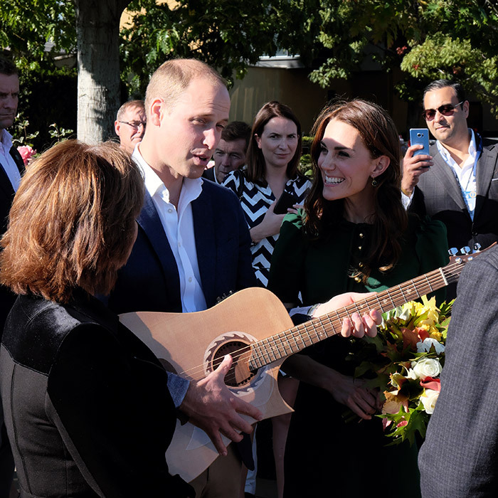 Prince William showed off his guitar skills while visiting the Mission Hill Winery in British Columbia. 
