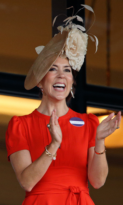 Denmark's Princess Mary cheered on her horse from the royal enclosure at Royal Ascot. The mother of four was one of the Queen's VIP guests. 