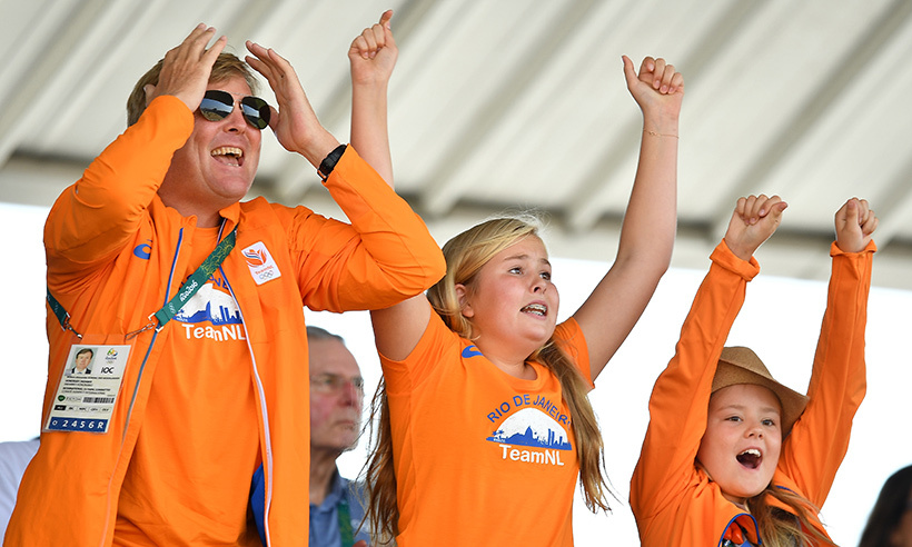 The Dutch olympic team had some very special cheerleaders in the stands during the Summer Games in Rio. King Willem-Alexander and his daughters, Princess Amalia and Princess Alexia, couldn't contain their excitement as they watched their homegrown athletes take part in the Equestrian Jumping finals. 