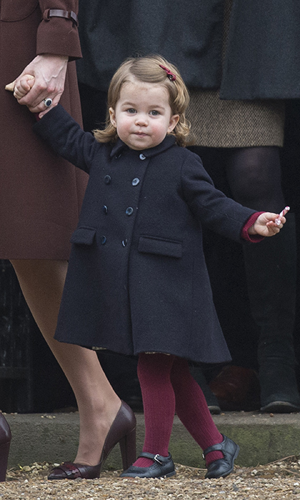 Princess Charlotte looked adorable in her Sunday best as she left church with her mom on Christmas day. 