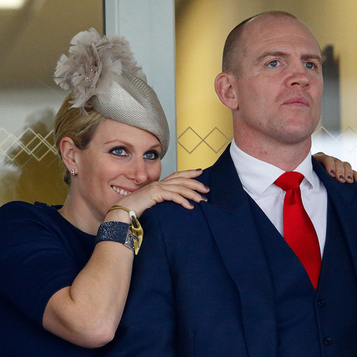 Zara Tindall and her husband Mike couldn't look away as they watched the Grand National horse race in Liverpool. 