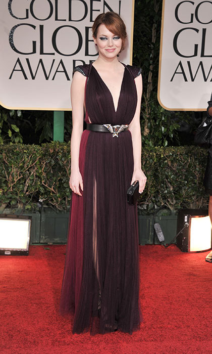 Emma Stone in Lanvin, 2012