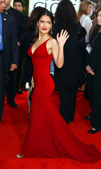 Salma Hayek in Narciso Rodriguez, 2003