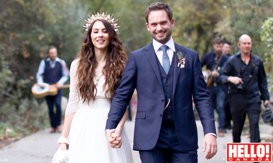 Sneak K Patrick J Adams And Troian Bellisario Open Up About Their Camp Themed California Wedding