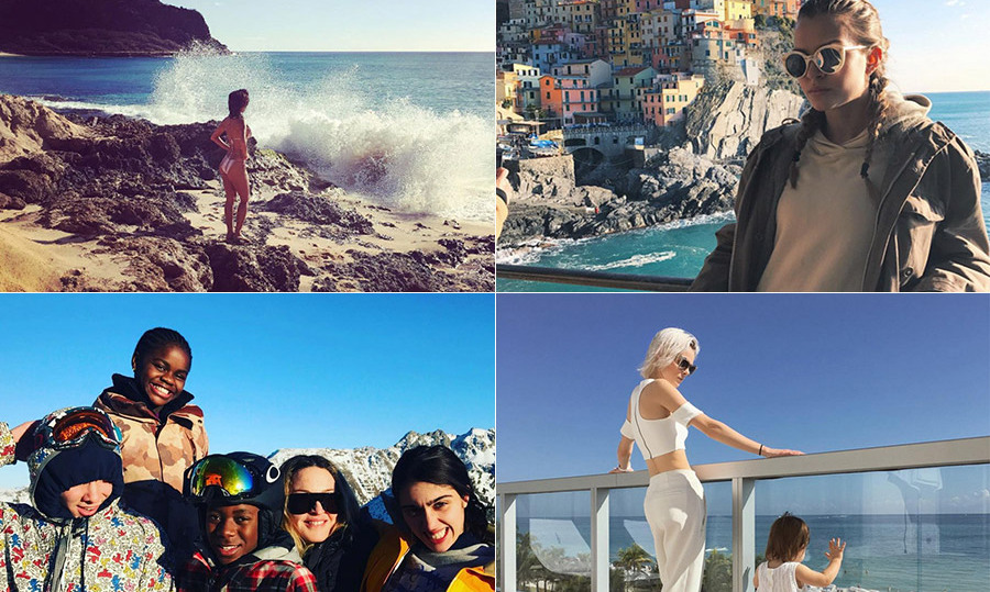 See where Coco Rocha, Madonna and more stars are escaping to this winter...