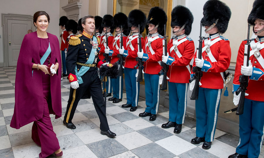 Prince Frederik and Princess Mary of Denmark continued their busy week attending a New Year reception with officers from the Defense and Emergency Management Agency.