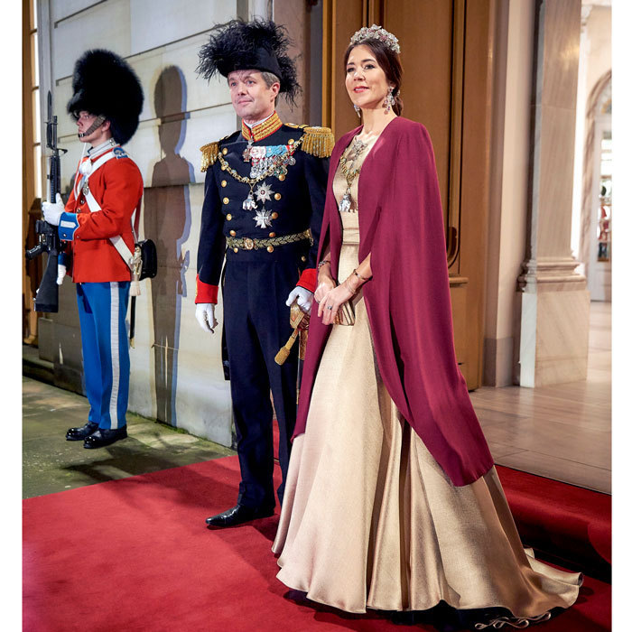 The Crown Prince couple of Denmark looked regal at their first New Year's Kur at Amalienborg Palace, which they hosted with Her Majesty, Queen Margrethe.