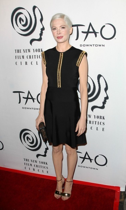 January 3: Michelle Williams rocked an edgy LBD to the New York Film Critics Circle Awards held at TAO Downtown in NYC. 