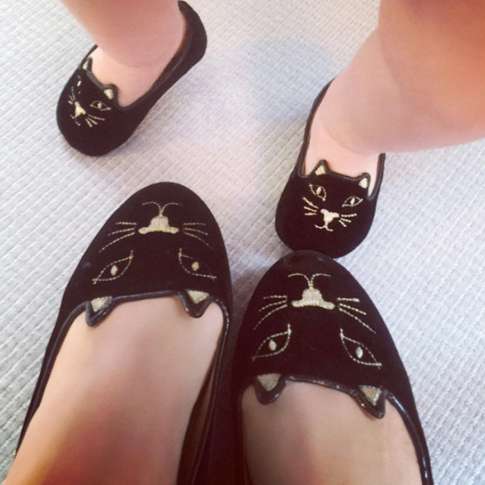 "<h3><a href=""/tags/0/nicky-hilton/"" target=""_blank"">Nicky Hilton</a> and Lily-Grace Rothschild</h3><p>Like mother, like daughter! Nicky and her baby girl sported stylish, matching kitty slippers. Attached to the photo, the heiress wrote, ""solemates.""</p><p>Photo: © Instagram</p>"