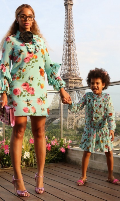 "<h3><a href=""/tags/0/beyonce/"" target=""_blank"">Beyoncé</a> and Blue Ivy Carter</h3><p>Beyoncé and her four-year-old daughter took over Paris in matching Gucci dresses.</p><p>Photo: © Beyonce.com</p>"