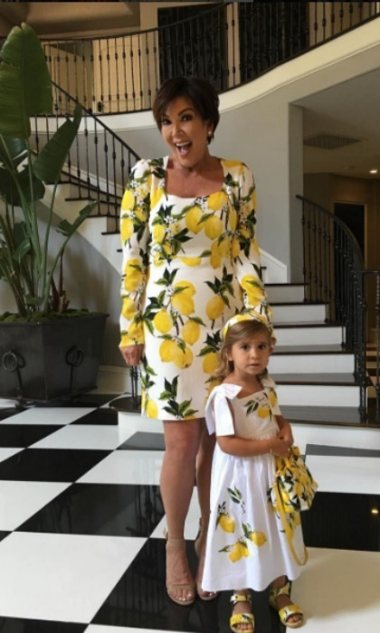 <h3>Kris Jenner and Penelope Disick</h3><p>The matriarch of the Kardashian family and her granddaughter proved that when life hands you lemons... dress them up! Even though she is Penelope's grandmother, that didn't stop Kris from dressing the four-year-old in an identical dress while her mother Kourtney was away.</p><p>Photo: © Instagram</p>