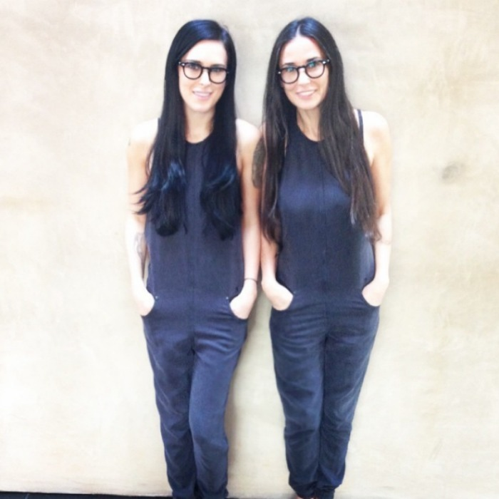 "<h3><a href=""/tags/0/demi-moore/"" target=""_blank"">Demi Moore</a> and Rumer Willis</h3><p>Seeing double! Rumer Willis transformed into her mother for a photoshoot wearing the exact same outfit, including Demi's signature glasses.</p><p>Photo: &copy; Instagram</p>"