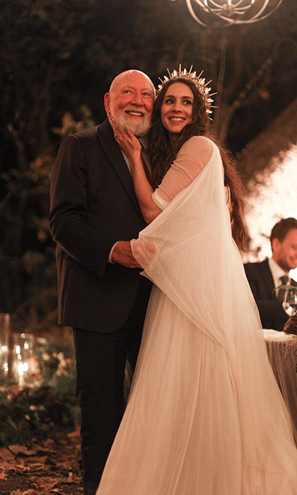 The <em>Pretty Little Liar</em>'s star and her father Donald Bellisario. 