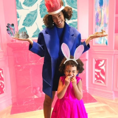 Solange and Blue Ivy