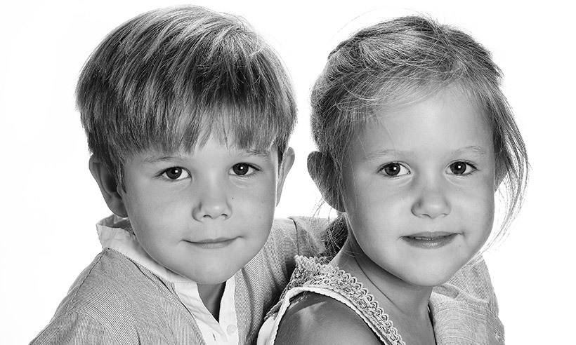The palace released three new portraits on Jan. 8 to celebrate the twins' sixth birthday.    
