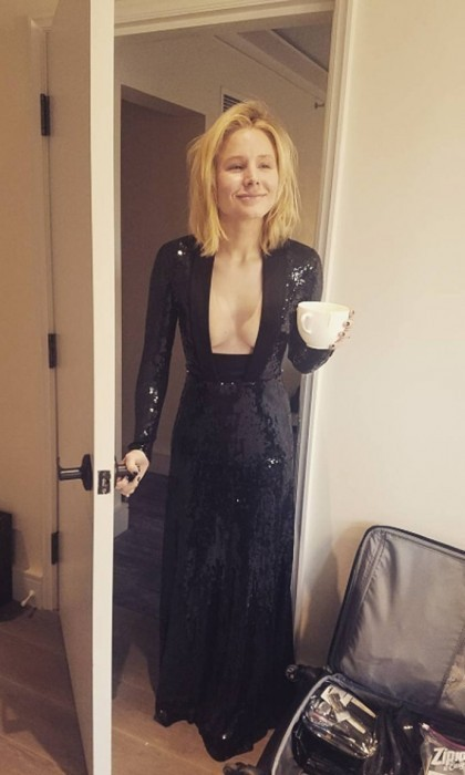 Kristen Bell shared a golden-morning photo on Instagram, writing: