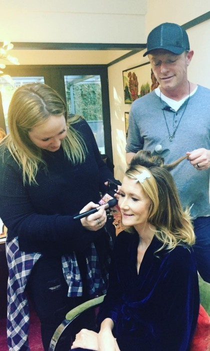 "Laura Dern was happy to be ""gettin Globed up"" according to her Instagram post.