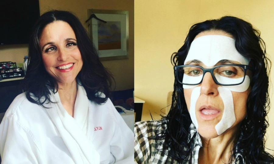 "Julia Louis-Dreyfus had fun joking that she was ""winning"" while getting ready for the Golden Globes. 