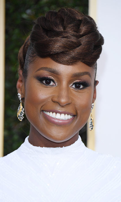 <h3>Issa Rae</h3><p>This former YouTube star of our favourite new show, Insecure, wins for best Golden Globes braid.</p><p>Photo: © Getty Images</p>
