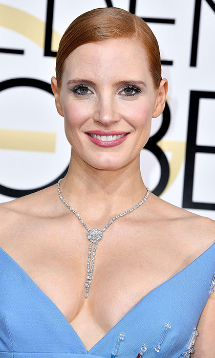 <h3>Jessica Chastain</h3><p>Jessica's hair always looks impossibly perfect, but she usually sticks with leaving it down. So pulling it back into a braided bun was a lovely change that let her pretty makeup shine.</p><p>Photo: &copy; Getty Images</p>