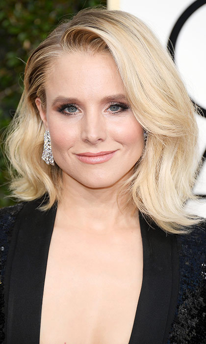 <h3>Kristen Bell</h3><p>A lot of attendees debuted fresh Golden Globes bobs, but Kristen and her voluminous textured hair were the first out of the gate, and the first on our best beauty list.</p><p>Photo: © Getty Images</p>