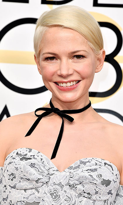 <h3>Michelle Williams</h3><p>The platinum pixie is nothing new for Michelle, but it never gets old in our books. Especially coupled with that glowing complexion.</p><p>Photo: © Getty Images</p>