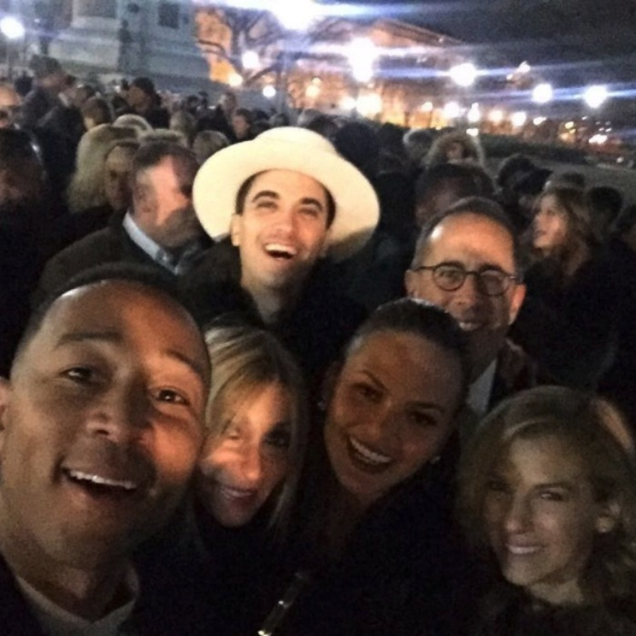 <strong>January 7:</strong> DJ Cassidy, John Legend, Chrissy Teigen and Jerry Seinfeld were a few of the A-list celebrities on hand for the final bash at the White House hosted by President Barack Obama and First Lady Michelle Obama.