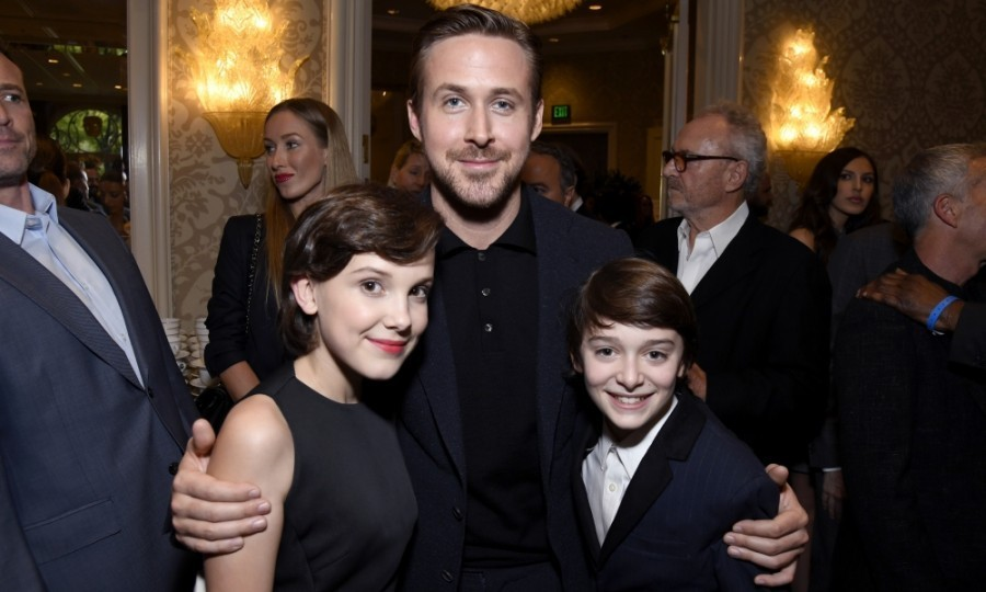 "<strong>January 7:</strong> It's 'strange' in <em>La La Land</em>! Millie Bobby Brown, Ryan Gosling and Noah Schnapp posed together inside the BAFTA Tea Party at the Four Seasons Hotel in Beverly Hills. On Instagram, MBB said meeting Ryan was ""awesome.""