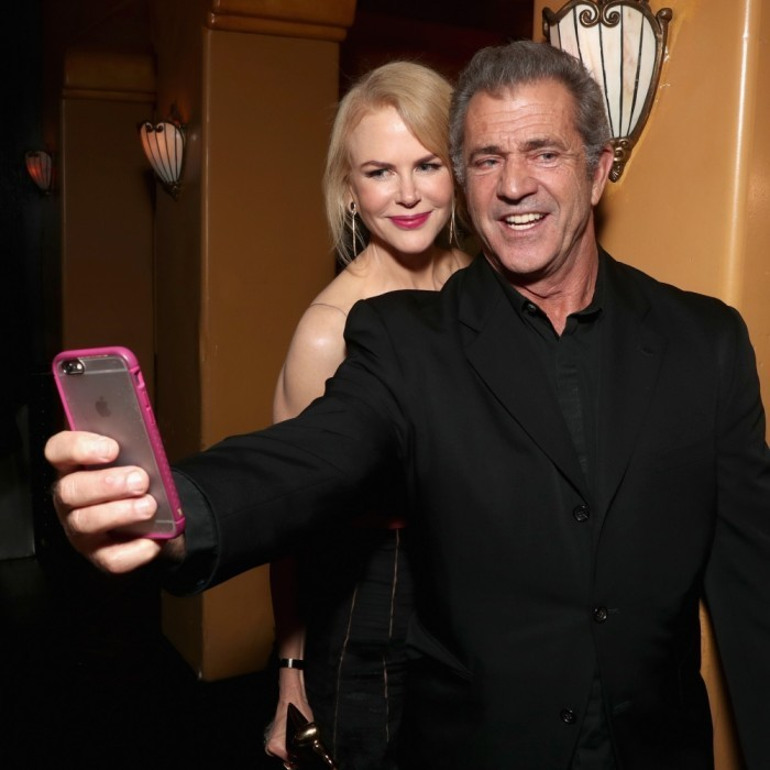 <strong>January 6:</strong> But first, let me take a selfie! Nicole Kidman and Mel Gibson had fun attending the 6th AACTA International Awards on in Los Angeles, California.