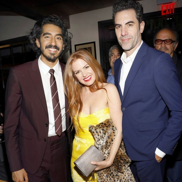 "<strong>January 6:</strong> Dev Patel, Isla Fisher and Sacha Baron Cohen attended a special screening and reception of <em>LION</em>. The VIP cinema event was hosted by David O'Russell and Lee Daniels in West Hollywood, California after the International AACTA awards. When asked what she enjoys most about awards season, Isla told <em>Hello!</em>: ""It's going to sound awfully superficial but I do enjoy the fashion. All the beautiful girls dressed up. Hollywood has in some ways become so corporate and you feel like people's own identities don't come out on the red carpet, but I think at something like the Golden Globes you get to see the fun fashion.""