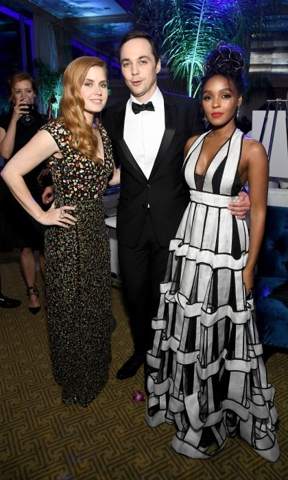 <strong>January 2:</strong> Amy Adams, Jim Parsons and Janelle Monae were a stylish trio during the after party for the 28th annual Palm Springs International Film Festival Film Awards Gala.