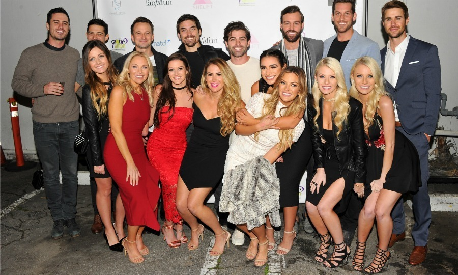 <strong>January 2:</strong> It was a reunion for former stars of <em>The Bachelor</em> who got together to celebrate the season premiere of the show with a charity party hosted by SheLift and Globe-athon at Sycamore Tavern in L.A.