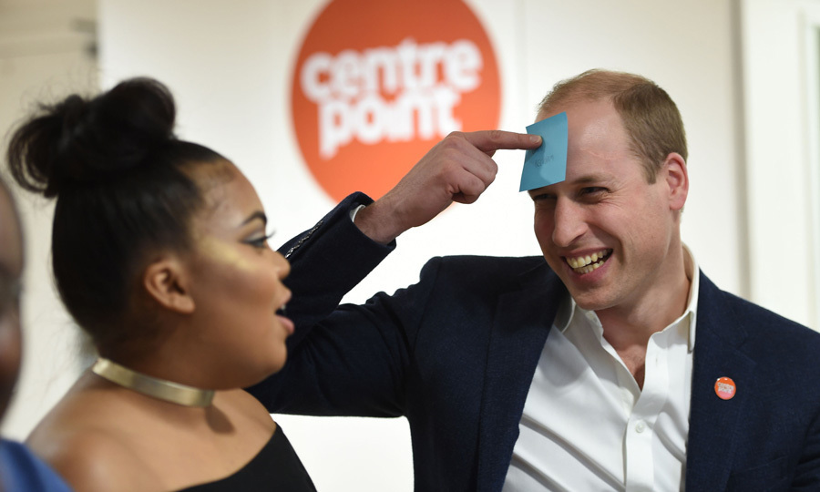 Prince William took part in a game, while at the hostel.