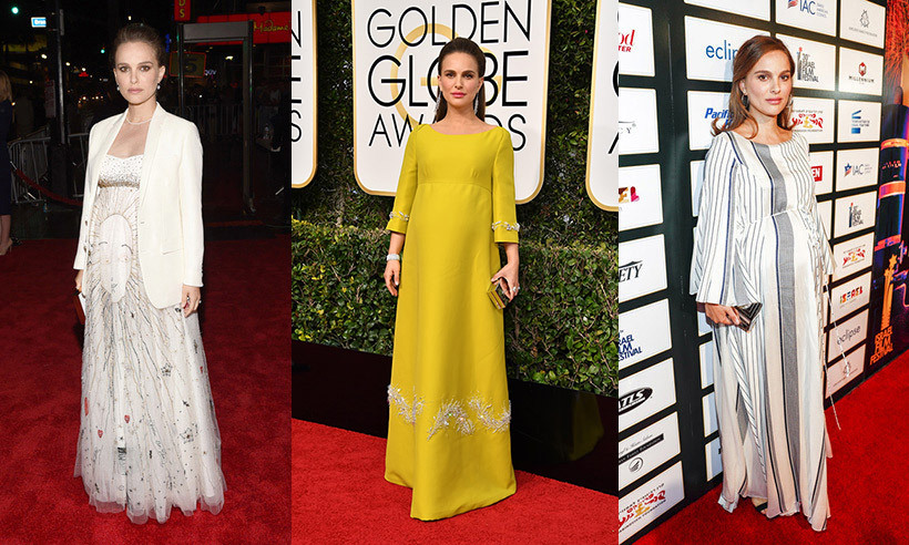 Natalie Portman is always a standout on the red carpet, and the actress has proven time and again that her maternity style is no exception. Whether she's rocking a bold hue that hugs her blossoming figure, a loose and bohemian gown or a heavily embroidered cape dress, the actress is positively radiant. Click through to see her best maternity looks...