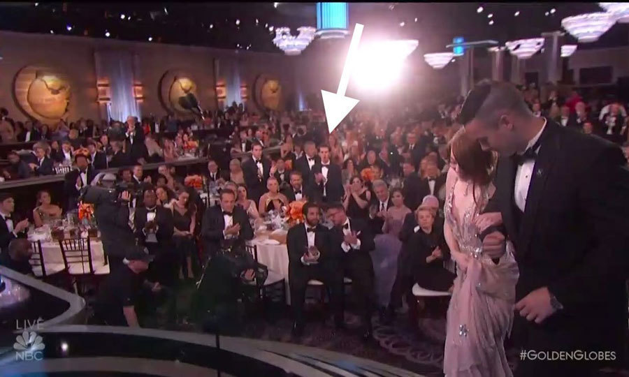 Andrew showed his support for Emma by giving the actress a standing ovation at the Golden Globes.