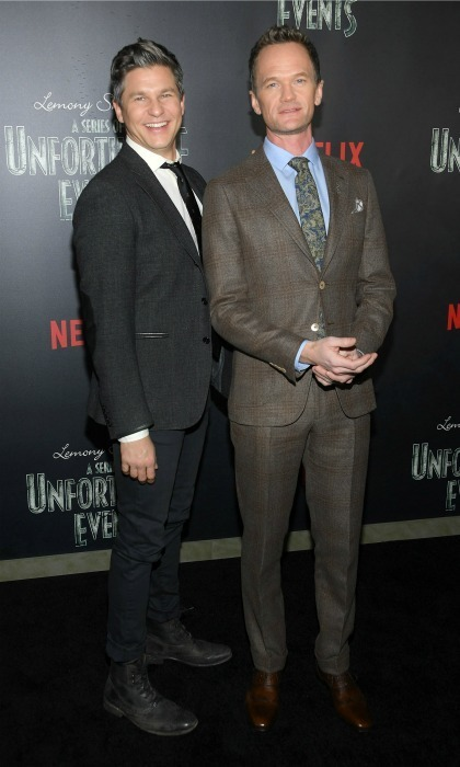 <strong>Jan. 11:</strong> Neil Patrick Harris and David Burtka were a handsome pair during Netflix's presents, Lemony Snicket's A Series of Unfortunate Events</em> screening in NYC. 