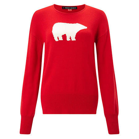"Bear crewneck sweater, $320, Perfect Moment; visit <a href=""http://perfectmoment.com"" target=""_blank"">perfectmoment.com</a>"