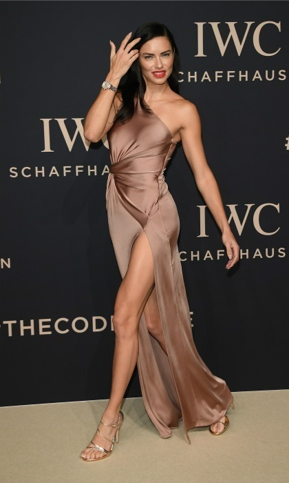 "<strong>Jan. 17:</strong> Adriana Lima in Cushnie et Ochs and Giuseppe Zanotti shoes at the SIHH 2017 ""Decoding the Beauty of Time"" gala dinner in Geneva, Switzerland. 