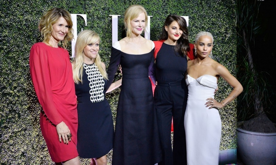 <strong>Jan. 14:</strong> Talk about a fashionable squad! The cast of <em>Big Little Lies </em> - Laura Dern, Reese Witherspoon, Nicole Kidman, Shailene Woodley and Zoe Kravitz - looked stunning on the carpet at ELLE's Annual Women In Television Celebration. 
