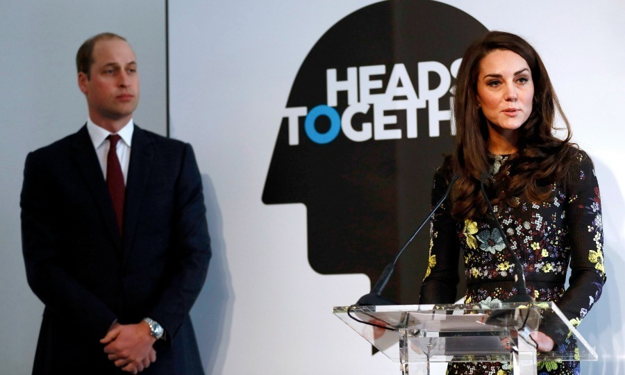 "<p>Kate took the stage to stress the importance of talking to others about mental health issues. ""We have seen that two heads are better than one when dealing with a mental health problem,"" she told the audience.</p><p>""Yet, the challenge that so many people have is not knowing how to take that first step of reaching out to another person for help. Admitting that they are not coping. Fear, or reticence, or a sense of not wanting to burden another, means that people suffer in silence – allowing the problem to grow larger and larger unchecked.""</p><p>Photo: &copy; Stefan Wermuth - WPA Pool /Getty Images</p>"