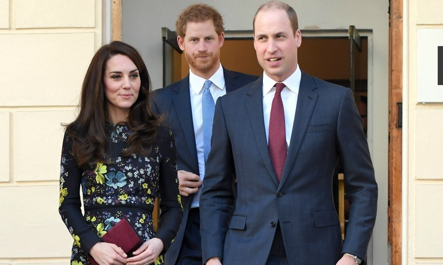 Earlier in the day, William and Harry were joined by Kate to attend the briefing announcing upcoming plans for their Heads Together organisation at the Institute of Contemporary Art in London.