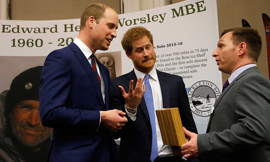 Harry and William also took time to chat to other guests who had stepped out for the ceremony.