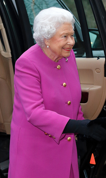 <strong>Jan. 19:</strong> The Queen looked lovely in magenta as she attended her first royal engagement of 2017 in Sandringham. The monarch was all smiles as she dropped in on the local Women's Institute for a spot of tea. 