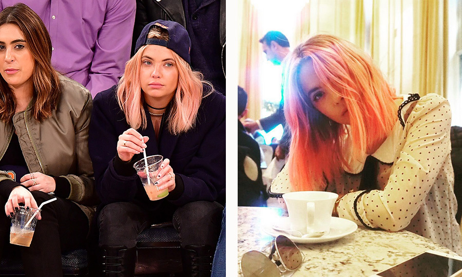 <em>Pretty Little Liars</em> star Ashley Benson has been rocking cotton candy pink hair since mid-December. Even though she looks stunning as a blond, we're loving her sweet new look! 