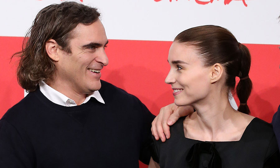 <h3>Rooney Mara and Joaquin Phoenix</h3>